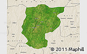 Satellite Map of Bembereke, shaded relief outside