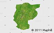 Satellite Map of Bembereke, single color outside