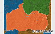 Political Map of Gogounou, darken