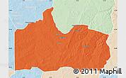 Political Map of Gogounou, lighten