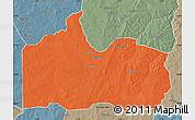 Political Map of Gogounou, semi-desaturated