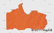 Political Map of Gogounou, single color outside