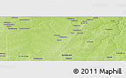 Physical Panoramic Map of Gogounou