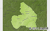 Physical 3D Map of Kandi, darken