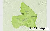 Physical 3D Map of Kandi, lighten
