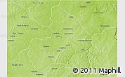 Physical 3D Map of Kandi
