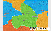 Political 3D Map of Kandi