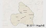 Shaded Relief 3D Map of Kandi, lighten