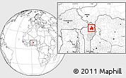 Blank Location Map of Kandi, highlighted parent region
