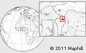 Blank Location Map of Kandi