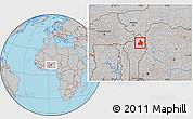 Gray Location Map of Kandi