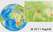 Physical Location Map of Kandi