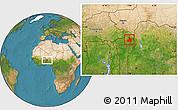 Satellite Location Map of Kandi