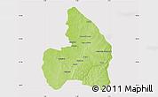 Physical Map of Kandi, cropped outside