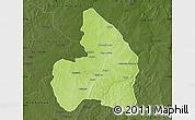 Physical Map of Kandi, darken