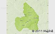 Physical Map of Kandi, lighten