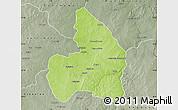 Physical Map of Kandi, semi-desaturated