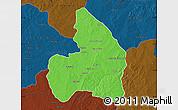 Political Map of Kandi, darken