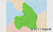 Political Map of Kandi, lighten