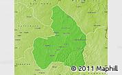 Political Map of Kandi, physical outside