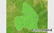 Political Map of Kandi, satellite outside