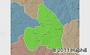 Political Map of Kandi, semi-desaturated