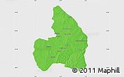 Political Map of Kandi, single color outside