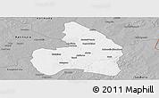 Gray Panoramic Map of Kandi