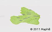 Physical Panoramic Map of Kandi, cropped outside