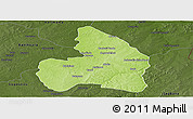 Physical Panoramic Map of Kandi, darken