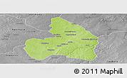 Physical Panoramic Map of Kandi, desaturated