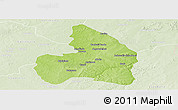 Physical Panoramic Map of Kandi, lighten