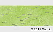 Physical Panoramic Map of Kandi