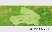 Physical Panoramic Map of Kandi, satellite outside