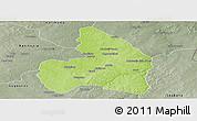 Physical Panoramic Map of Kandi, semi-desaturated