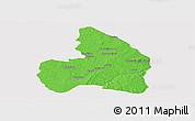 Political Panoramic Map of Kandi, cropped outside