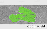 Political Panoramic Map of Kandi, desaturated