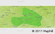 Political Panoramic Map of Kandi, physical outside