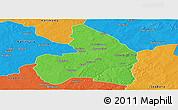 Political Panoramic Map of Kandi