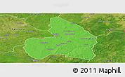 Political Panoramic Map of Kandi, satellite outside