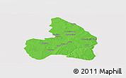 Political Panoramic Map of Kandi, single color outside