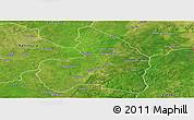 Satellite Panoramic Map of Kandi