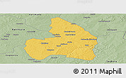 Savanna Style Panoramic Map of Kandi