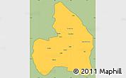 Savanna Style Simple Map of Kandi, cropped outside