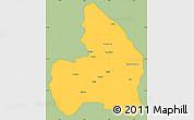 Savanna Style Simple Map of Kandi, single color outside