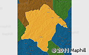 Political Map of Karimama, darken