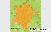 Political Map of Karimama, physical outside