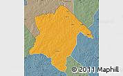 Political Map of Karimama, semi-desaturated