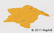 Political Panoramic Map of Karimama, cropped outside