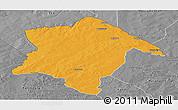 Political Panoramic Map of Karimama, desaturated